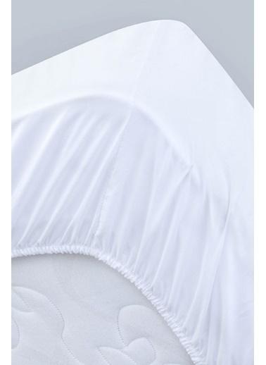Alla Turca Kapitoneli Sıvı Geçirmez Alez 70*140 Komple Lastikli Beyaz